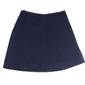 Dark Blue Suede Skirt